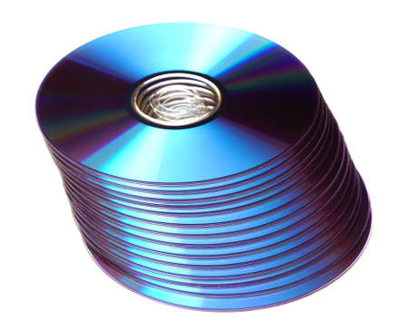 dvds: photo of dvds on white background