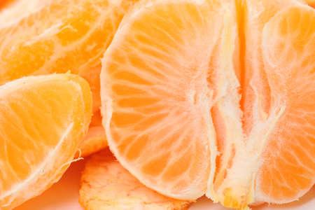 photo of Peeled tangerine closeup photo