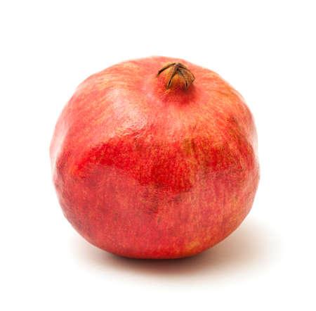 photo of pomegranate on white background photo