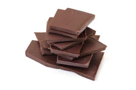 cikolata: chocolate pieces on white background
