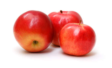 fresh red apples isolated on white background Stock Photo - 12067378