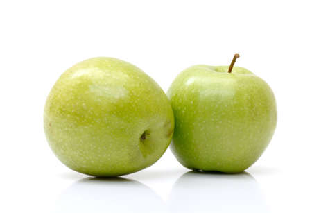fresh green apples isolated on white background Stock Photo - 12067374