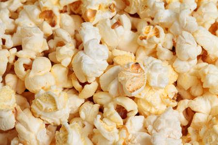 photo of yellow popcorn, closeup photo