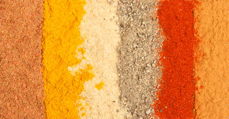 photo of spices background, closeup photo
