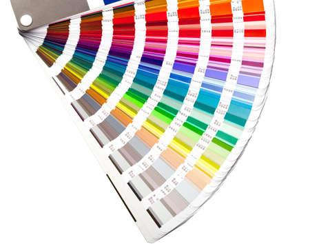 nyitott szín útmutató swatch, closeup
