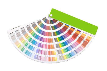 Nyitott színes útmutató Swatch fehér Stock fotó