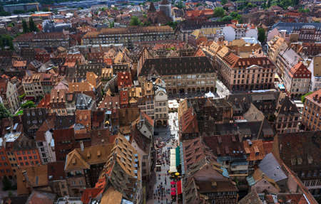 Roof top view, Strasbourg, France photo