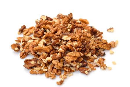 purified: Heap Purificada Nueces sobre fondo blanco