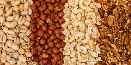 Mix of Nuts closeup photo