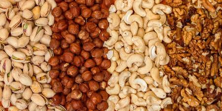 Mix of Nuts closeup photo