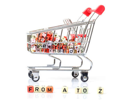 Shopping Cart, Concept of a Full Range of Products  From A to Z  photo