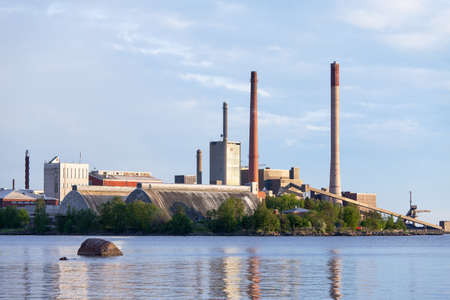 View of the Closing of Factories and Smokestacks Stock Photo - 14088458