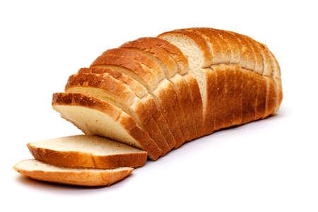 Szeletelt kenyér, fehér, háttér