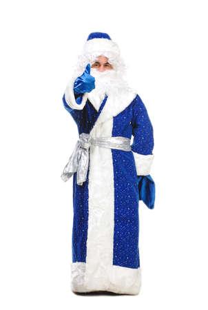 travesty: Travesty Actors Genre Depict Santa Claus, on white background