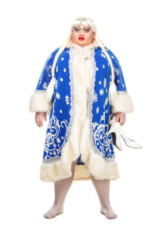 travesty: Travesty Actor Genre Depict Snow Maiden, on white background