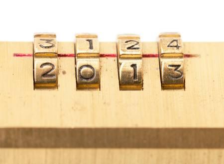 Combination Padlock, closeup on white background Stock Photo - 16651520