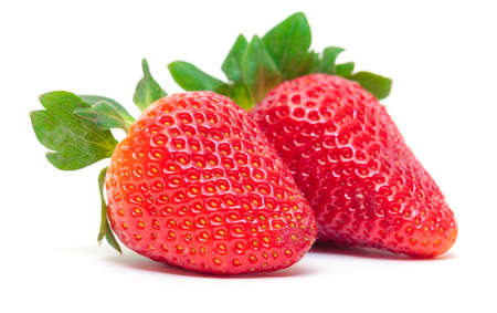 Ripe Berry Red Strawberry on white background, closeup Stock Photo - 18455851