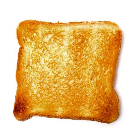 白い背景の上の 1 つのパン トースト