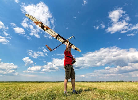 rc: Man Launches into the Sky RC Glider, wide-angle