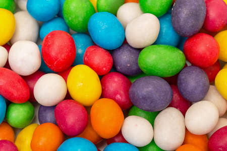 colorant: Backdrop from Multicolored Sweet Candy, close up Stock Photo