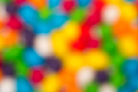 colorant: Blurred Backdrop from Multicolored Sweet Candy, close up