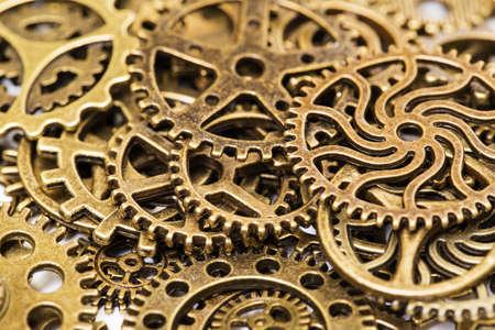 cogwheel: Vintage Mechanical Cogwheel Gears Wheels, closeup