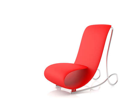 Futuristic armchair isolated on white background (3d illustration) Stock Illustration - 10827645