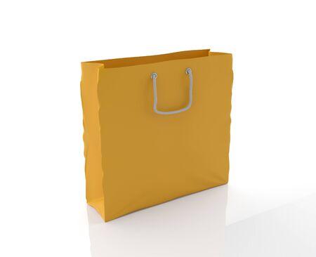 Shopping bag isolated on white (3D illustration) Stock Illustration - 10827655