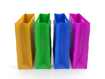Colorful shopping bags (3d illustration) Stock Illustration - 10827748