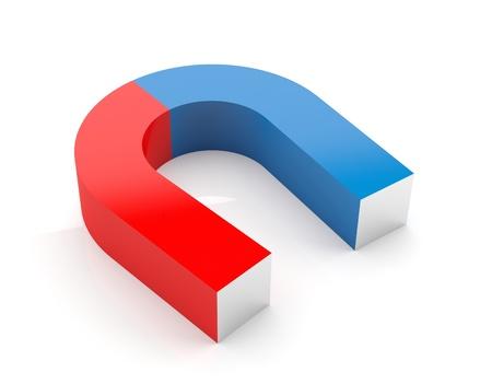 magnetismo: Horseshoe modello 3d magnete isolato su sfondo bianco