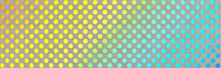 Neon circles on a grey background - 3d panorama Stock Photo - 10827752