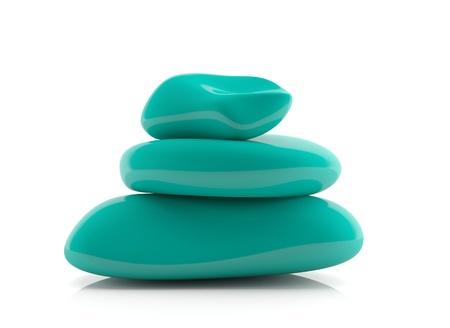 Blue decorative spa stones -3d model