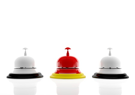 A set of hotel bells (3d render)