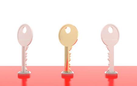 3D keys - symbol set Stock Photo - 10901905