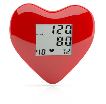 physical exam: Cuore rosso salute. Modello 3D