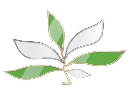 Leaves - chat icon. 3D website element Stock Photo - 11066542
