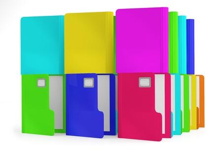 arranging: Folders. Colorful 3D illustration