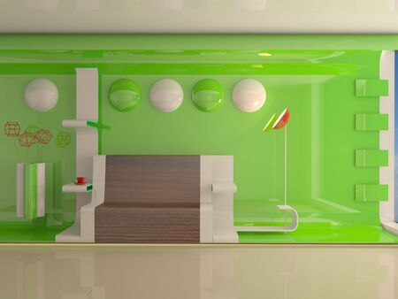 Modern interior. 3d rendering photo