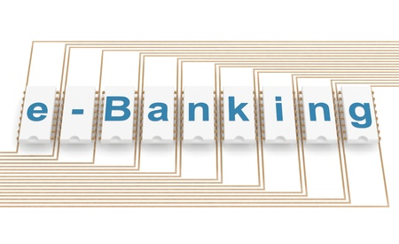 E-banking icon. 3D illustartion on white background Stock Photo - 11808328