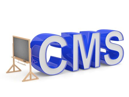 cms: CMS sign. Programming education concept Stock Photo