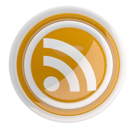 RSS icon. 3D model Stock Photo - 11808353