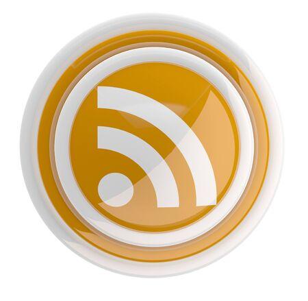 RSS icon. 3D model photo