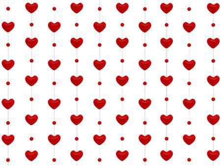 Heart pattern. 3D rendering Stock Photo - 11808348