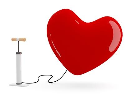 Heart pump. 3D model Stock Photo - 11808331
