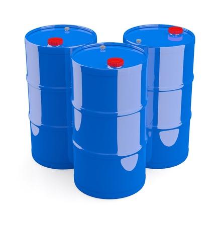 Oil barrel. 3D model isolated on white photo
