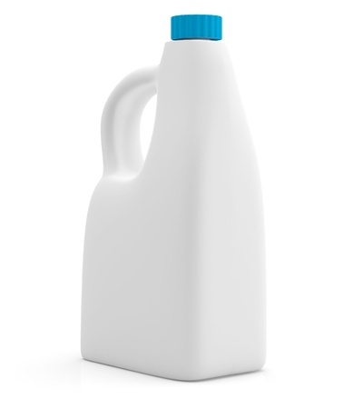 Milk bottle isolated on white background. 3D model