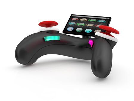 Video game controller. 3D model isolated on white photo