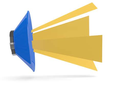 Speaker icon. 3D model isolated on white photo