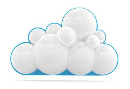 ight: Cloud icon. 3D model isolated on white