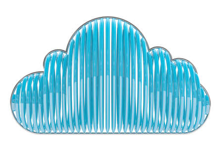 computering: Blue cloud. 3D icon isolated on white